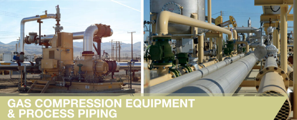 Gas Compression Equipment and Process Piping Projects