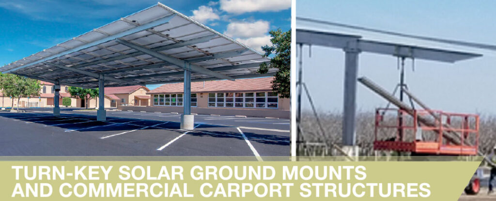 Solar Ground Mounts and Commercial Carport Structures